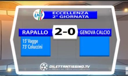 VIDEO: RAPALLO-GENOVA CALCIO 2-0. Eccellenza 2016/2017