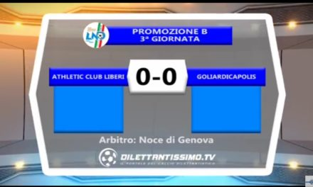 VIDEO: ATHLETIC –  GOLIARDICA 0-0. Promozione B
