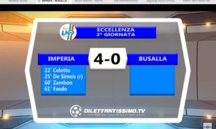 VIDEO: IMPERIA-BUSALLA 4-0. Eccellenza 2016/2017