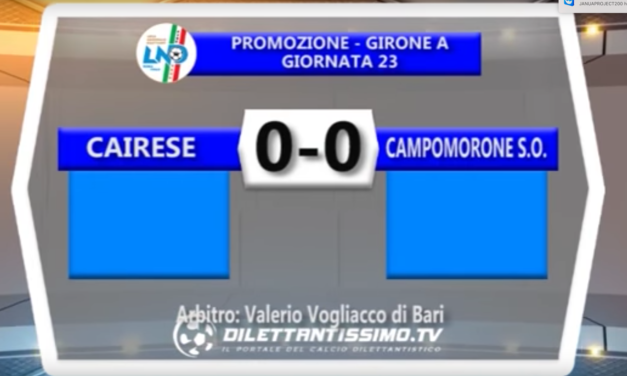 CAIRESE – CAMPOMORONE SANT'OLCESE  PROMOZIONE GIR .A