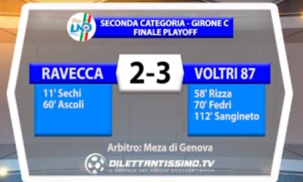 SECONDA CAT. GIR. C  FINALE PLAYOFF RAVECCA – VOLTRI 87 2-3