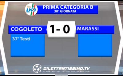VIDEO: COGOLETO-MARASSI 1-0. Ultima giornata 1ª Categoria B