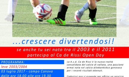 L'open day del CA DE RISSI
