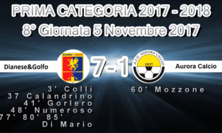Video: Diano&Golfo-Aurora 7-1.  Prima Categoria A. 8ª Giornata