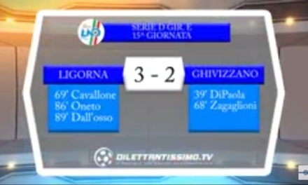 VIDEO, LIGORNA -GHIVIZZANO 3-2. Serie D Girone E. Immagini e moviola