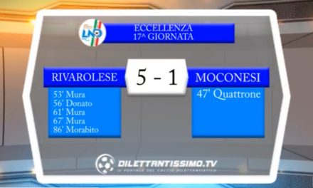 VIDEO – Eccellenza 17a giornata: Gli highlights di Rivarolese-Moconesi 5-1