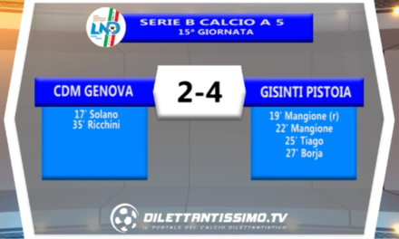 VIDEO – Gli highlights della supersfida Cdm Genova – Gisinti Pistoia 2-4