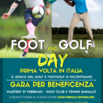Foot & Golf Day a Rapallo il 27 Marzo il Golf ed il Footgolf  s'incontrano per beneficenza.