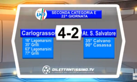 VIDEO: CARLO GRASSO-ATLETICO SAN SALVATORE 4-2. Seconda categoria E
