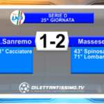 VIDEO – Serie D: Gli highlights di Sanremese – Massese 1-2