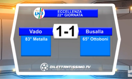 VIDEO – Eccellenza: Gli highlights di Vado-Busalla 1-1