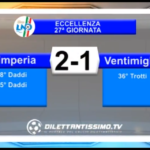 VIDEO: IMPERIA – VENTIMIGLIA 2-1. Moviola sul gol annullato