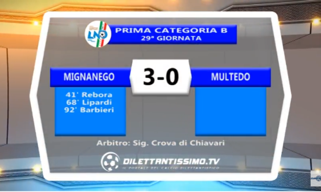 VIDEO – Prima Categoria B: Gli highlights e le interviste del dopo partita di Mignanego-Multedo 3-0