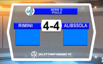 VIDEO: RIMINI -ALBISSOLA 4-4. Poule scudetto