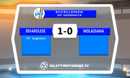 VIDEO – Eccellenza: Gli highlights di Rivarolese-Molassana 1-0