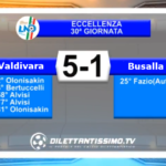 VIDEO – Eccellenza: Gli highlights di Valdivara 5 Terre-Busalla 5-1