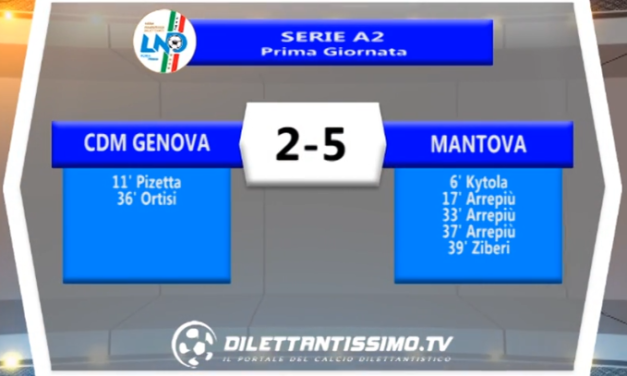 VIDEO – SERVIZIO TV: Cdm Genova-Mantova 2-5, esordio amaro in Serie A2