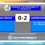 VIDEO – Prima Categoria C: Il servizio di San Cipriano-Sampierdarenese 0-2