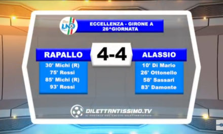 VIDEO: RAPALLO – ALASSIO 4-4