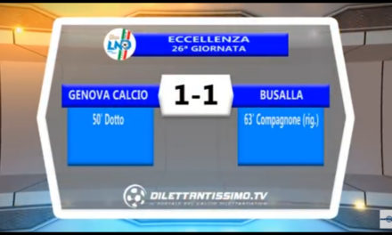 Video: GENOVA CALCIO – BUSALLA 1-1. Highlights e interviste
