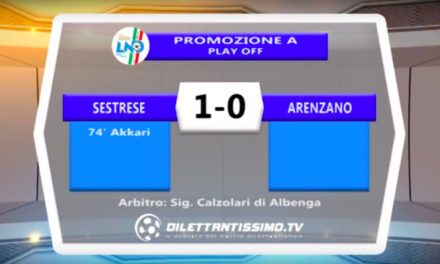 SESTRESE – ARENZANO 1-0 PLAY OFF PROMOZIONE A Highlights + Interviste