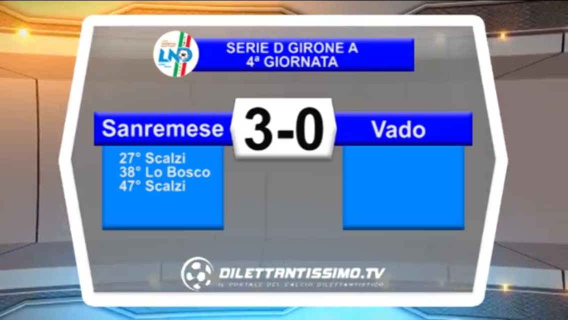 Video: SANREMESE – VADO 3-0 Highlights