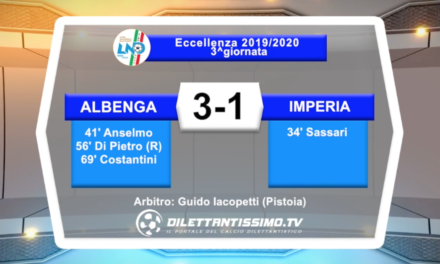 Video: ALBENGA-IMPERIA 3-1 highlights + interviste