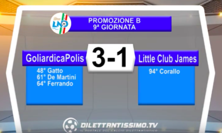 GOLIARDICAPOLIS – LITTLE Club James 3-1: Highlights della partita + interviste