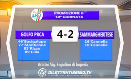 GOLFO PRCA – SAMMARGHERITESE 4-2: Highlights della partita + Interviste