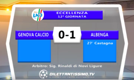 GENOVA CALCIO – ALBENGA 0-1: Highlights + moviola e interviste