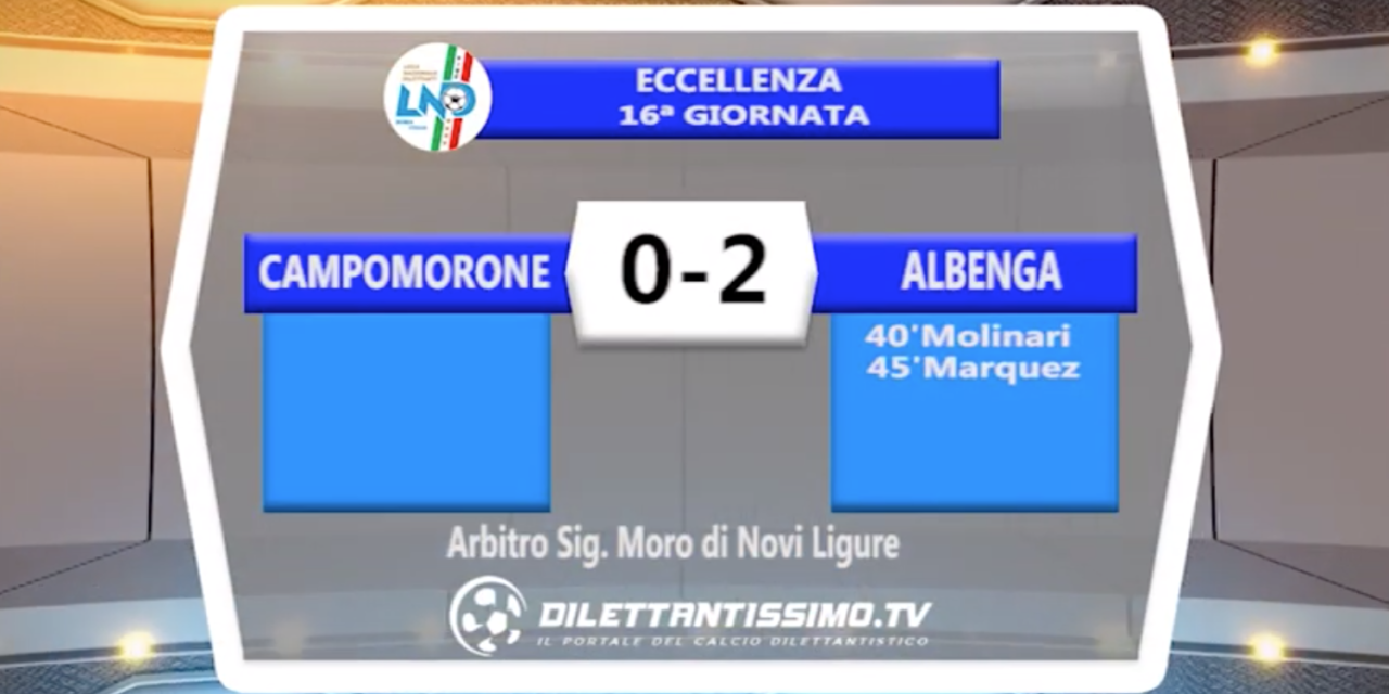 CAMPOMORONE – ALBENGA 0-2 – HIGHLIGHTS DELLA PARTITA