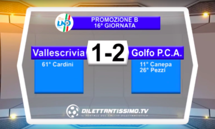 VALLESCRIVIA – GOLFO PRCA 1-2: HIGHLIGHTS DELLA PARTITA
