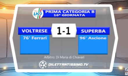 VOLTRESE- SUPERBA 1-1: HIGHLIGHTS DELLA PARTITA +INTERVISTE
