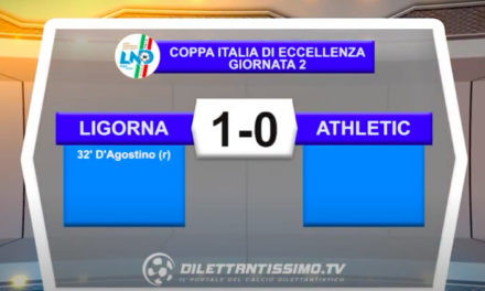 Coppa Italia Eccellenza: Ligorna – Athletic club 1-0 gli highlights della partita