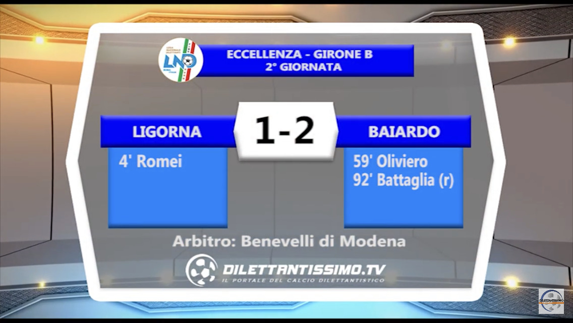 VIDEO – LIGORNA-BAIARDO 1-2: le immagini del match e le interviste post partita