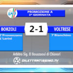 VIDEO – BORZOLI – VOLTRESE 2-1: le immagini del match e le interviste