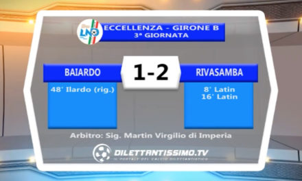 VIDEO – BAIARDO – RIVASAMBA 1-2: le immagini del match e le interviste