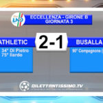 VIDEO – ATHLETIC CLUB – BUSALLA 2-1: le immagini del match