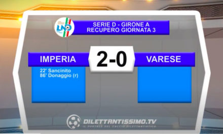 VIDEO| Imperia-Varese 2-0: le immagini del match e le interviste