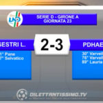 VIDEO|Sestri Levante-PONTDONNAZ 2-3: LE IMMAGINI DEL MATCH