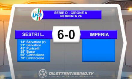 VIDEO|SESTRI LEVANTE-IMPERIA 6-0: LE IMMAGINI DEL MATCH E LE INTERVISTE