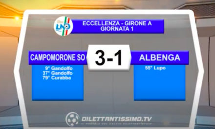 VIDEO|CAMPOMORONE-ALBENGA 3-1: LE IMMAGINI DEL MATCH