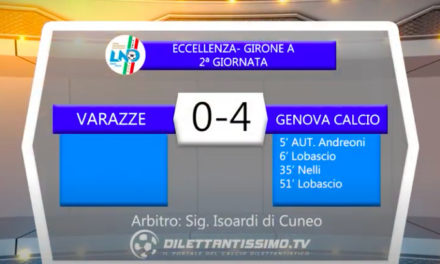 VIDEO|VARAZZE-GENOVA CALCIO 0-4: LE IMMAGINI DEL MATCH E LE INTERVISTE