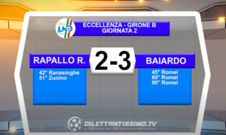VIDEO|RAPALLO RIVAROLESE-BAIARDO 2-3: LE IMMAGINI DEL MATCH E LE INTERVISTE