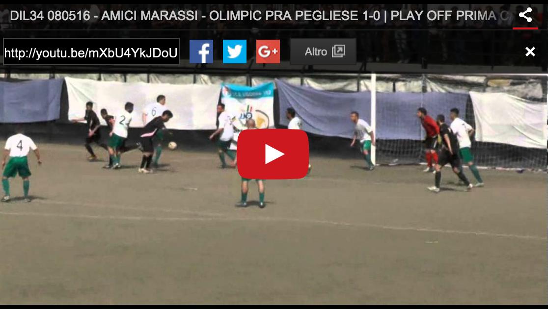 PLAY OFF : AMICI MARASSI – OLIMPIC PRA PEGLIESE 1-0