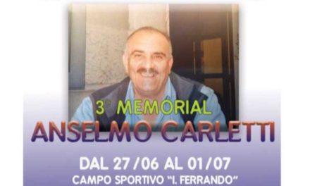 """Terza edizione del """"Memorial Anselmo Carletti"""""""
