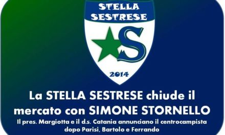 La STELLA SESTRESE chiude il mercato con SIMONE STORNELLO