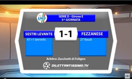 VIDEO: SESTRI LEVANTE-FEZZANESE 1-1. Serie D Gir.E 2016/2017