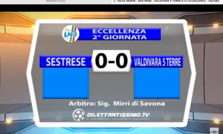 VIDEO: SESTRESE-VALDIVARA 5TERRE 0-0. Eccellenza 2016/2017