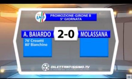VIDEO: A.BAIARDO-MOLASSANA 2-0. Promozione Girone B. 5^ Giornata